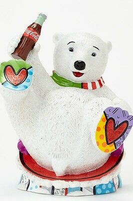 Disney Britto for Coca Cola Baby Polar Bear Figurine New