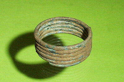 Authentic Ancient GREEK RING geometric period HENDIN COA mens large size 11 old