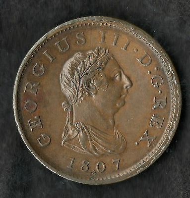 1807 George III Copper Penny Near Uncirculated