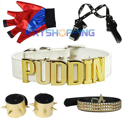 Harley quinn suicide squad costumes cosplay dress up accessoire ceinture gant