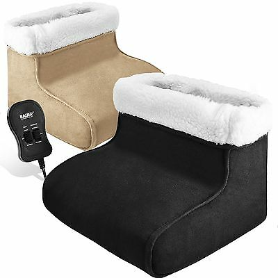 New Electric Heated Comfort Fleece Suede Comfy Relaxing Foot Massager Warmer