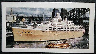 SS ORIANA     P&O Orient Lines        Illustrated Colour Card