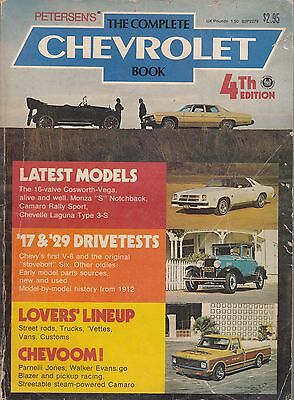 THE COMPLETE CHEVROLET BOOK 4th Edition (1975) Petersen SC