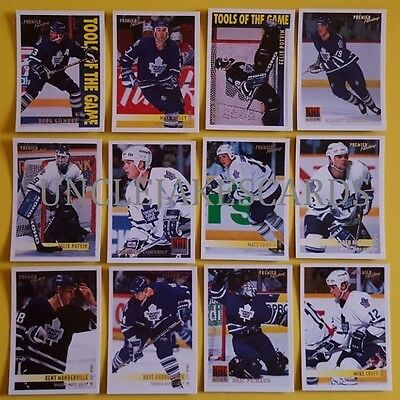 94-95 OPC PREMIER TORONTO MAPLE LEAFS Select from LIST HOCKEY CARDS O-PEE-CHEE