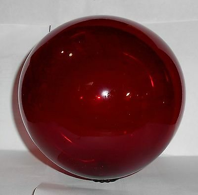 "5"" Vintage Hand Blown Ruby Red Glass Ball"
