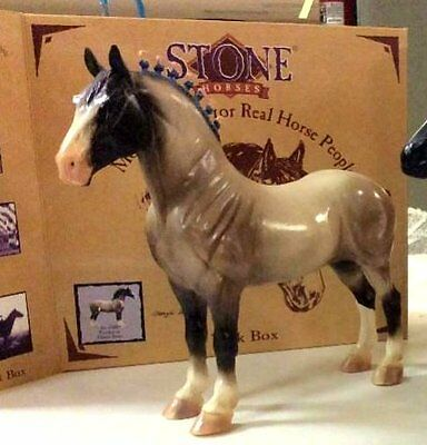 PETER STONE #6200 GLOSSY RED ROAN PERCHERON DRAFTER '99 Horse
