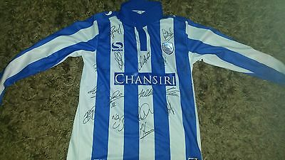 """Superb Sheffield Wednesday Home Shirt Signed By 18 - """"proof"""""""
