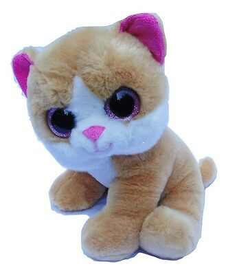 Posh Paws Toy Cuddly Plush Cat Pink Ears Sparkle Eyes 11 inches