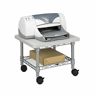 Safco Products 5206GR Under Desk Printer/Machine Stand, Gray New