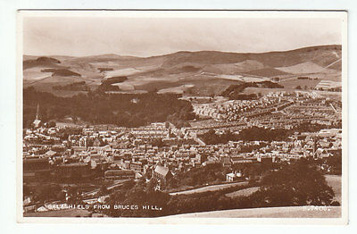 Galashiels From Bruces Hill 1953 Real Photograph Valentines B7406 Old Postcard