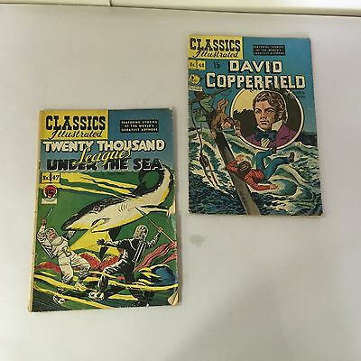 Lot of Two Classic Illustrated Comics - 47 - 48 -