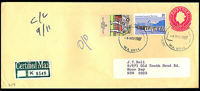 1987 Australia - Uprated Certified Mail - Cover - J42