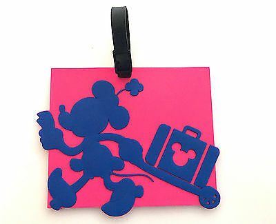 Disney Parks Minnie Mouse Large Square Luggage Tag  NEW