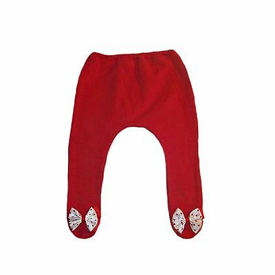 Baby Girls' Red Tights with Red Heart Bows - 6 Preemie Newborn Toddler Sizes.