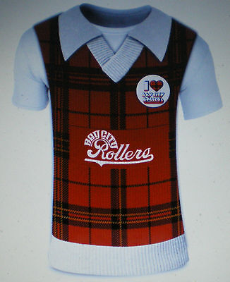 Les Mckeown Bay City Rollers Coloured Brand New Tartan Tanktop T Shirt