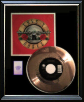 Guns N' Roses Sweet Child Of Mine Rare Gold Record Disc & 45 Rpm Sleeve