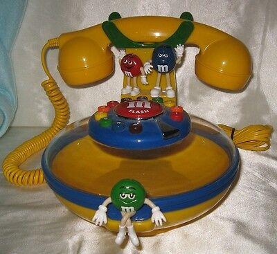 M&Ms Talking Candy Dish Telephone Phone Works