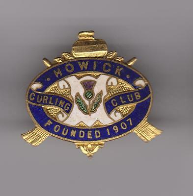 Howick Quebec Curling Club Pin - Founded 1907 - Metal VG
