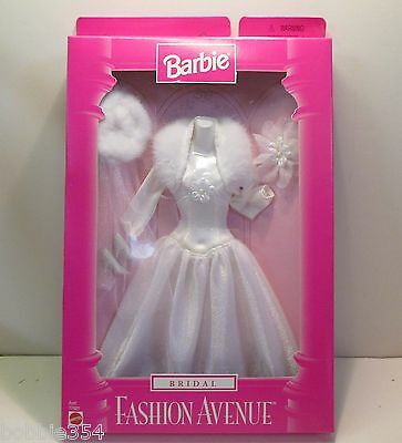 Barbie Bridal Fashion Avenue Collection Outfit New in Sealed Box Mattel 1997 3+