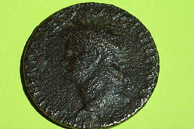 SCARCE Ancient ROMAN NERO MIRROR BOX cosmetic tool artifact old sestertius coin