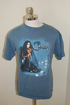 Cher  Do You Believe Concert Shirt Blue Size Large