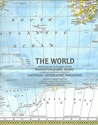 National Geographic Map - December 1981 - The World & World Ocean Floor Maps