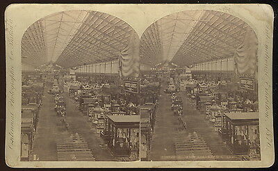 Stereoview Card, Agriculture Bldg Interior, Packaged Food Stuffs Displays
