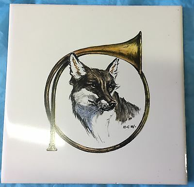 Fox Hunt Hunting Ceramic Tile Hot Plate #3