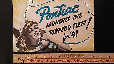 "1941 PONTIAC  - ""Torpedo Fleet"" - Nautical Theme Color Sales Dealer Folder (CDN)"