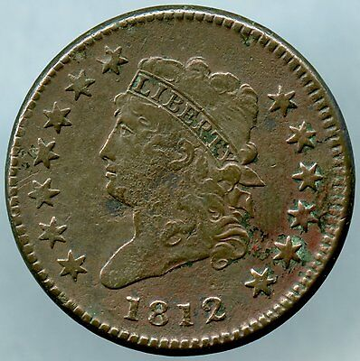 1812 Large Cent S290 Small Date Very Fine with corrosion