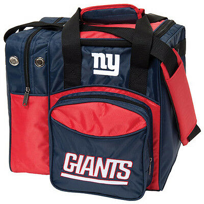 New NFL New York Giants Single 1 Ball Tote Bowling Bag Lots of Room
