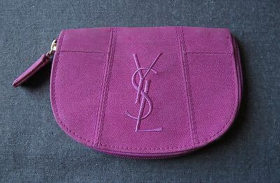 Vintage Authentic Yves Saint Laurent Ysl Parfums Fuchsia Fuchsia Zippered Purse