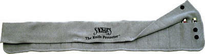 Sack Ups AC807 Holds 18 Knives Silicone Treated Gray Cotton Knife Roll Hold