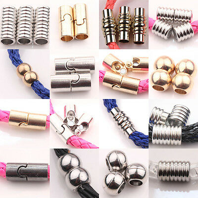 Hot 5/10Sets Column Magnet Connectors Metal Silver/Gold Jewelry Making Clasps