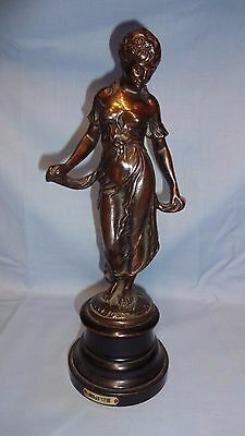 Antique French Cast Metal Female Figure Modestie - Gilt Bronze Style