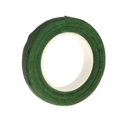Green Paper Florist Floral Stem Wrap Artificial Flower Tape 12mm Wide 30M