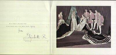 ELIZABETH THE QUEEN MOTHER Autograph Signed Christmas Card UACC DEALER (A