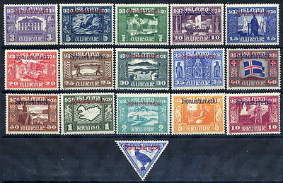 ICELAND 1930 Millenary of Parliament official set LHM / *