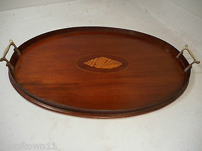 Antique Mahogany inlaid Tray 1592
