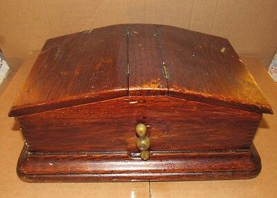 Vintage Antique Freemason Black and White Marble Ballot Voting Box with Handle