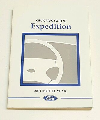 2001 Ford Expedition Owners Manual Eddie Bauer Xlt Fuses Fluid V8 5.4L 4.6L 4X4