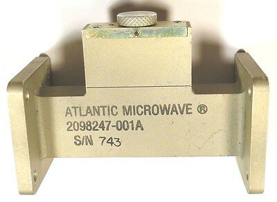 Waveguide Wr-75 Attenuator Variable - Atlantic Microwave - Aluminum *unused*