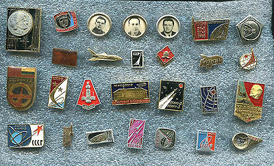 Russia USSR Soviet Era  SPACE TEMATIC 25 Pin Badge