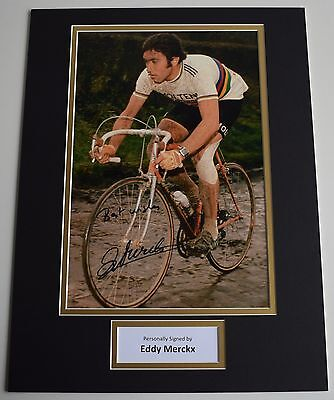 Eddy Merckx SIGNED autograph 16x12 photo display Cycling Tour de France COA