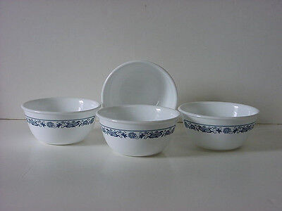 4 Corelle Old Town Blue 12-oz Rice Dessert Bowls NEW Made in USA
