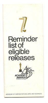 45th Academy Awards (1972-73) list of eligible releases