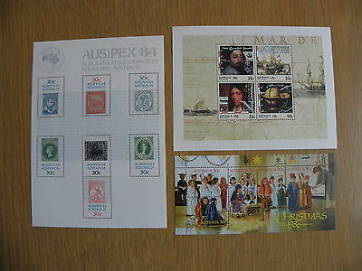 Australia Post - 3 Minisheets from the 1980's, MNH