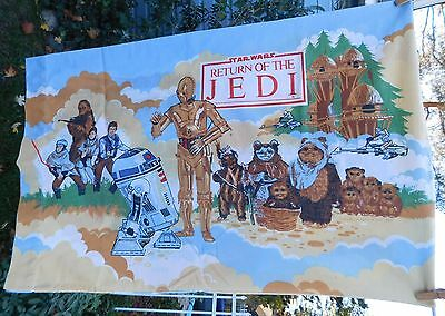 Vintage Star Wars Return Of The Jedi Sheet Set Twin Fitted Flat 2 Cases