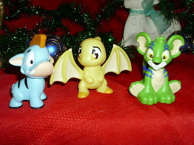Lot of 3 plastic BURGER KING NEOPETs happy meal toys