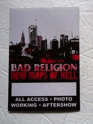 BAD RELIGION New Maps Of Hell TOUR PASS OOP